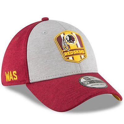 6ccf205172f Washington Redskins Cap Sideline 2018 Road NFL Football New Era 39thirty M    L