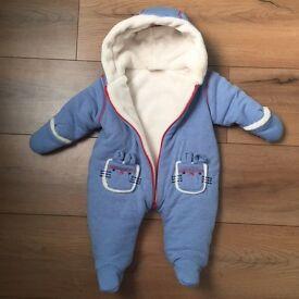Baby boy snowsuit.