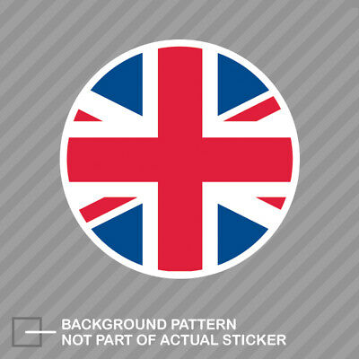 Round Decal Vinyl Sticker (Round Union Jack Sticker Decal Vinyl UK british united kingdom england)