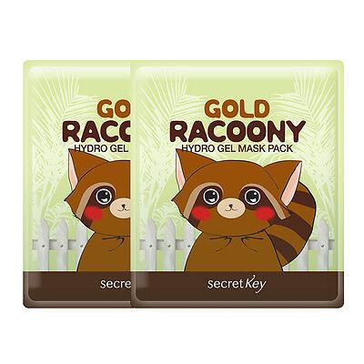 [SECRET KEY] Gold Racoony Hydro Gel Mask Pack 30g x 2pcs - Korea Cosmetics