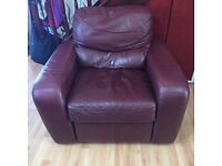 Quick sale of a Quality Leather Manual Action Recliner , Used but still in very comfortable