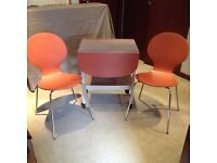 Vintage Retro Folding Table & 2 Chairs