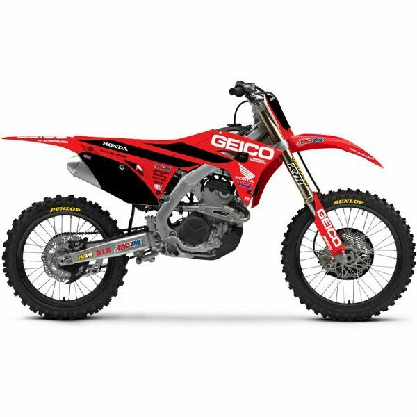 Team Geico Honda Graphics Sticker Kit Crf 450 2017 2020