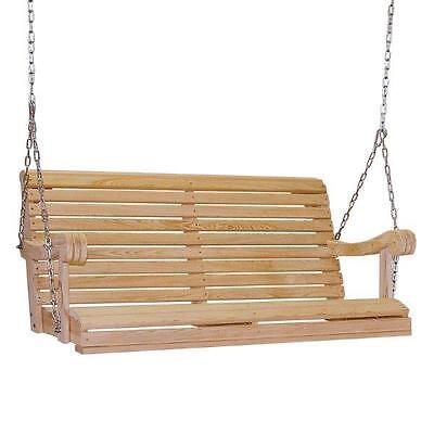 Cypress Unfinished 4 Foot Grandpa Porch Swing with Chains*FREE SHIPPING*