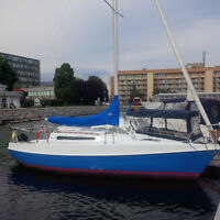 7.5 Tanzer Sailboat with dual axle trailer