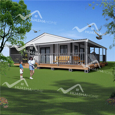Butterfly Expandable Mobile Home 40sqm Container Home Prefab House With Terrace