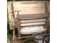 Old washing mangle