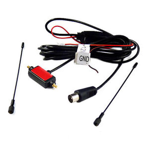Universal Car Analog TV Antenna Receiver Stereo Aeria Fit All Cars IEC Port