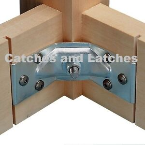 4 x Corner Brace Brackets Tables Legs Chairs + Fixing Bolts Nuts Screws FREE P&P