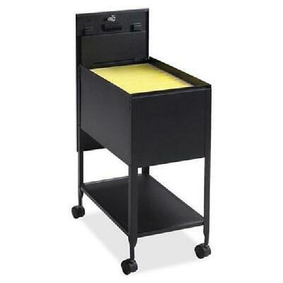 1 Drawer Rolling Filing Cart Lockable Metal Mobile Organizer Sturdy Durable