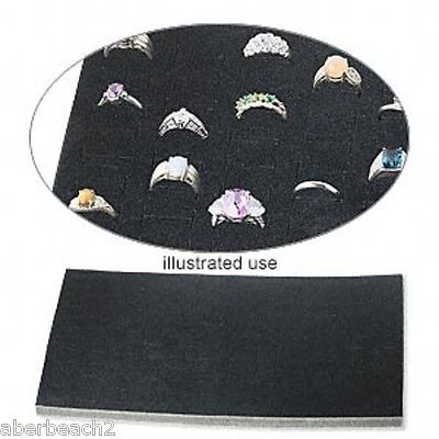 144 Ring Foam Pad Holder Tray Display Liner Insert Full Size 36-144 Rings Black