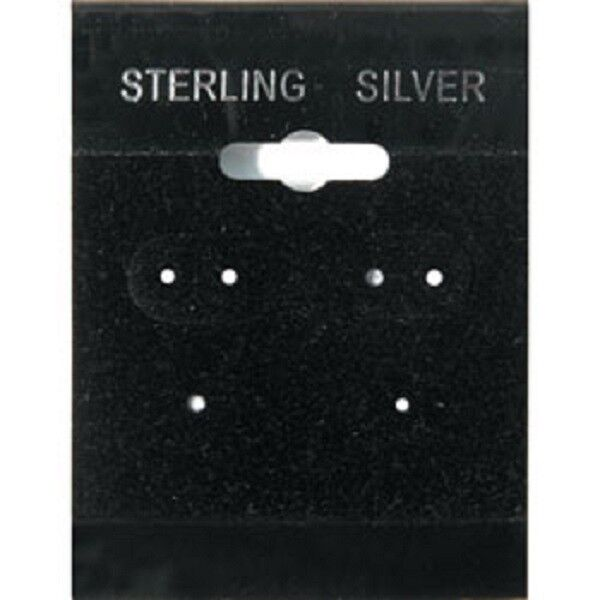 100pcs Earring Display Hanging Card Blk 1 1/2 x 2 with L Lip for Spinner Hang