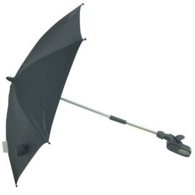 Graco Universal Folding & Flexible Black Umbrella Parasol Good as New