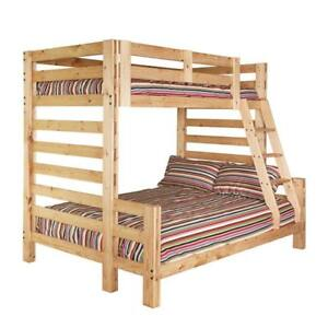 Bunk Bed: Twin over Full including mattresses.