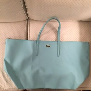 LACOSTE BABY BLUE TOTE BAG / CARRY ON BAG