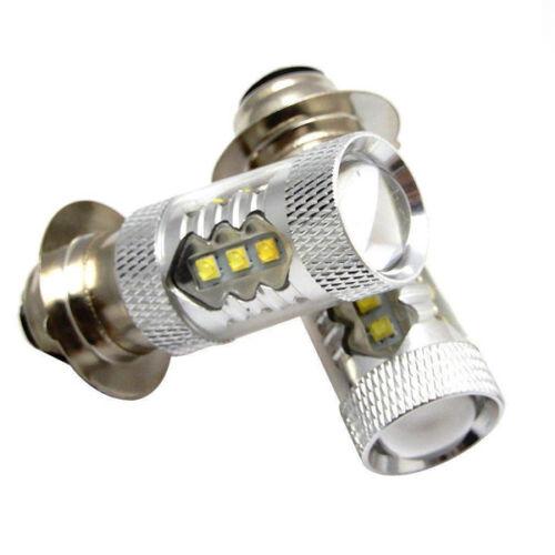 2PCS Motorcycle 80W Cree LED Head Light Bulbs DC12V-24V H6m/70023