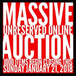 Massive Unreserved Online Auction - 1000 Lots - Electronics + Mu