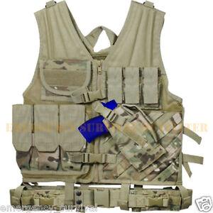 MULTICAM-Tactical-Cross-Draw-Vest-with-Holster-Pistol-Belt-Hydration-Carrier