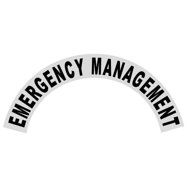 Emergency Management Black Helmet Crescent Reflective Decal Sticker