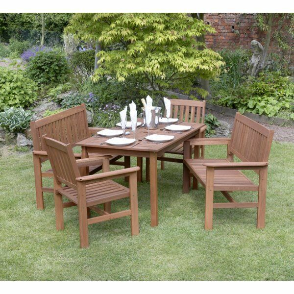 Garden Furniture Eastbourne tropicana 5 piece hardwood garden furniture set | in eastbourne