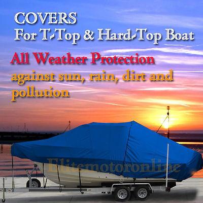 Atlantic 245 WA Walk Around Cuddy Fishing T-Top Hard-Top Boat Cover Blue