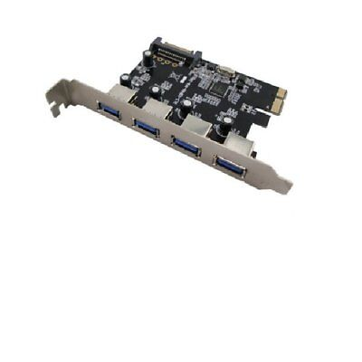 PCI Express Karte USB 3.0 Controller 4 Port Hub SATA Strom  #30447