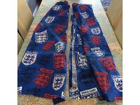 Kids England football curtains