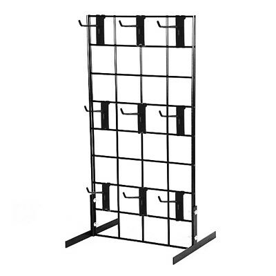 Counter Top Gridwall Display Fixture W 9- 4 Grid Hooks