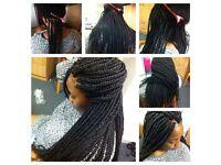 AFRO HAIRDRESSER LEICESTER 07708710118 Weave Box Braids Twist Dreadlocks MOBILE HAIR EXTENSIONS