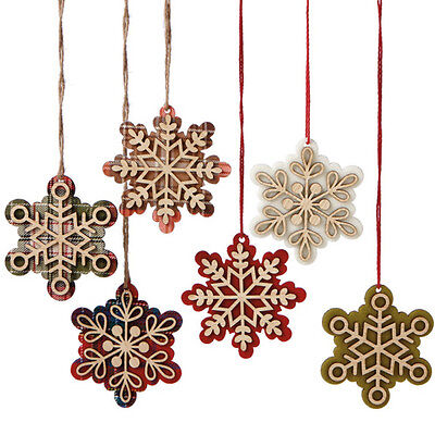 Nordic Winter ~ Snowflake Cut-Out Christmas Ornament Set ~ Set/6 ()