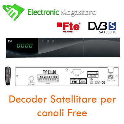 RICEVITORE DECODER SATELLITARE DIGITALE FREE