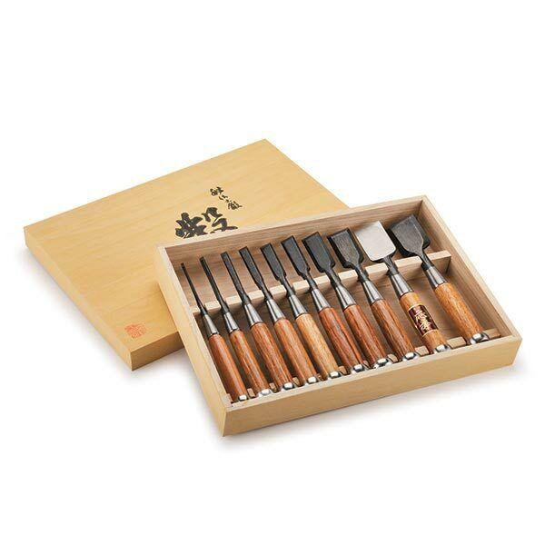 Fujikawa Okyo Japanese Chisel Set 10-piece
