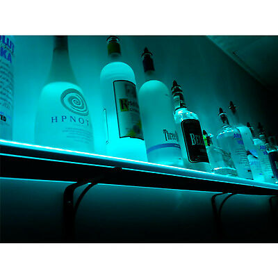 Wall Mounted Led Lighted Liquor Bottle Shelf - 3 Ft. Long - Club Party Bar Decor