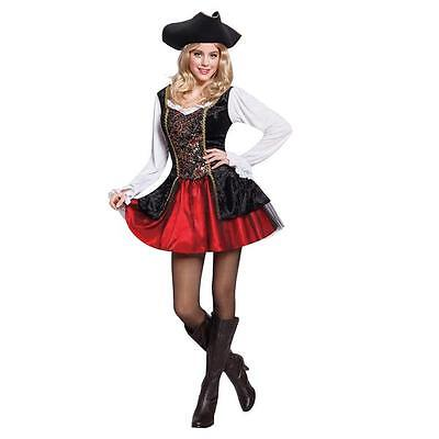 NEW Totally Ghoul Pirate Maiden Women Costume Dress One size fits most](Totally Costume)