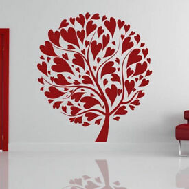 Love Heart Tree Wall Art Sticker - Free Shipping - UK