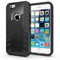 Black Robotic Heavy Duty Shockproof Cover Case For iphone 6S, 6+