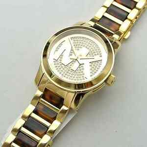 Michael kors watch mk5864 gold tortoise womens