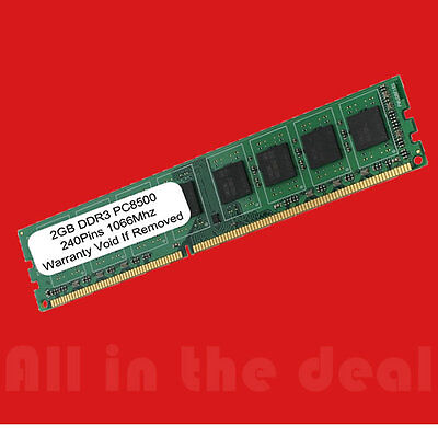 Pc3 8500 1066mhz Desktop Memory (2GB DIMM DDR3 Desktop PC3-8500 8500 1066MHz 1066 240-pin Ram Memory )