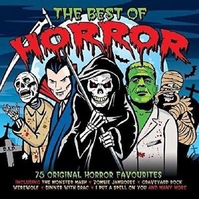 The Best Of Horror 3-CD NEW SEALED Monster Mash/Frankenstein Rock/Werewolf/Mummy](Best Halloween Music Compilation)