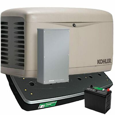 Kohler 14kw Composite Standby Generator System 200a Service Disc. W Load Sh...