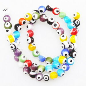 1String-110643-Assorted-Round-Evil-Eye-Glass-Bead-Fit-Jewelry-Making-6mm