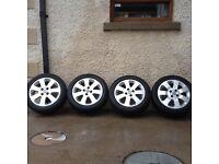 4x100 15 inch alloy wheels. Fits, Corsa, fiesta, Clio, punto etc..