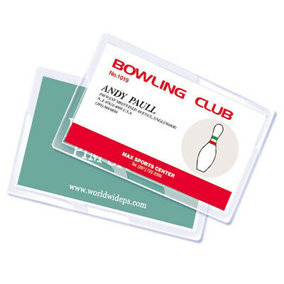 Royal Sovereign Unpunched Id Badge Thermal Laminating Pouches - 100 Pack