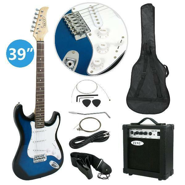 "Zeny 39"" Full Size Electric Guitar with Amp, Case and Access"