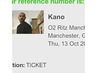 2 tickets for Kano Manchester Thursday 13th