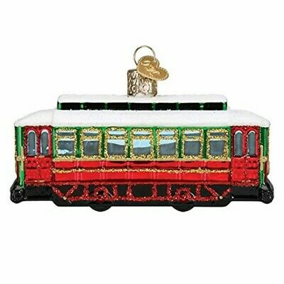 Old World Christmas 46094 Glass Blown Trolley Ornament