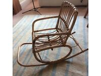 Child's bamboo rocking chair