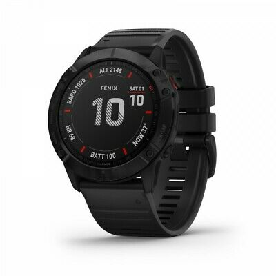 Garmin fenix 6X Pro GPS Multisport Watch - Black with Black Band 010-02157-00