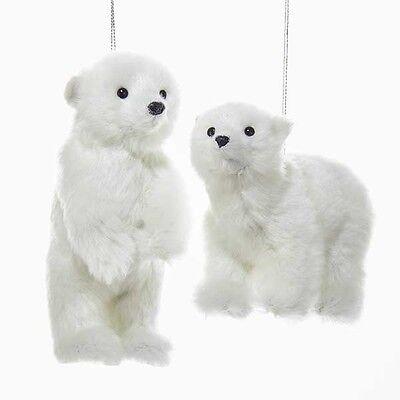 Polar Bear Ornament (Plush Polar Bear Ornament)