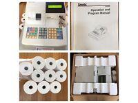 SAM4S ER-420M Electronic Till & Honeywell METROLOGIC MK9520-77D41 Handheld scanner & 10 till rolls